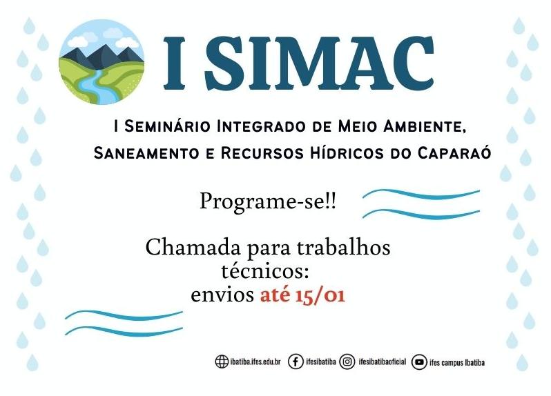Chamada para Submissão de Trabalhos Técnicos ao 1º SIMAC