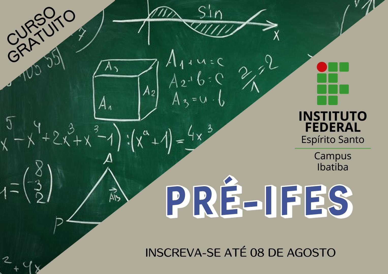 """Inscrições abertas para curso de Reforço e Complementação Escolar """"Ifes para todos - Ibatiba"""""""