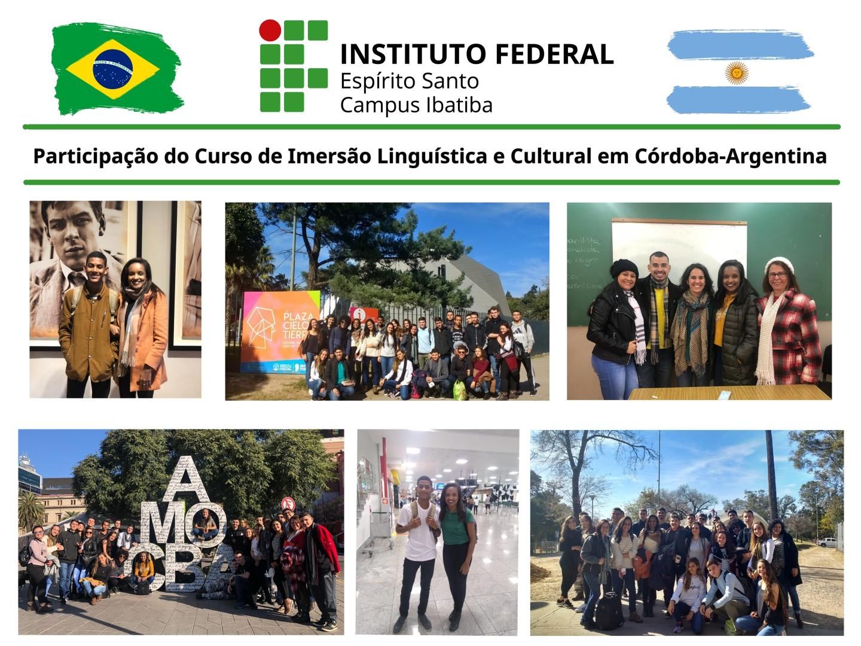 Participação do Curso de Imersão Linguística e Cultural que aconteceu em Córdoba-Argentina