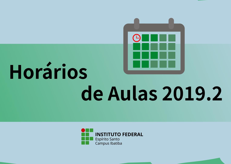 Horário de Aulas 2019.2
