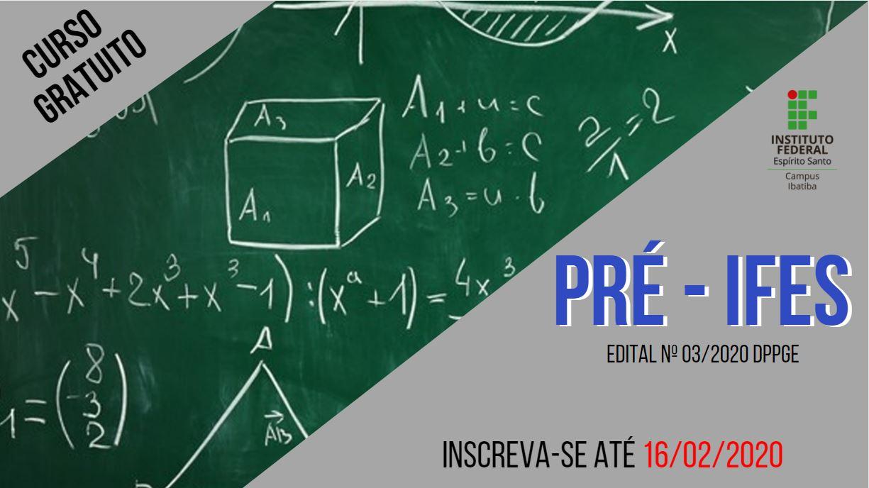 Edital nº03/2020 - Pré Ifes